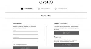 Identifícate - Oysho