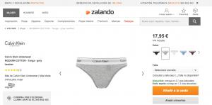 Selección de producto - Zalando