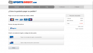 Pago - Sports direct