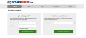 Tramitación Segura - Sports Direct