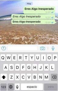 Tachado - WhatsApp